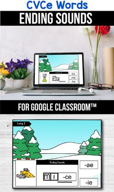 Looking for free ideas for the google classroom for your kindergarten, first grade or special education kids? These activities are perfect for teachers to use in the classroom or for parents to use for homeschool. These CVCe word activities for beginners replace old and outdated worksheets. You can use them while distance learning to make learning CVCe words with pictures, long a, long i, long u and long o easier. #googleclassroom #digitallearning #distancelearning #cvcewords