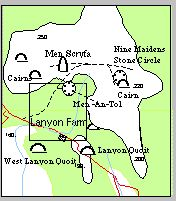 LANYON FARM | Cornwall: Map of local stone monuments     ✫ღ⊰n