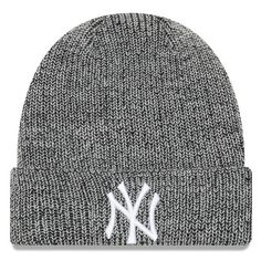 77a790ba0f4c8 New York Yankees New Era Chiller Cuffed Knit Hat - Black