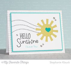 I Love You More, Heart Banner, Typewriter Text Background, Sun Moon and Stars Die-namics, Tag Builder Blueprints 3 Die-namics - Stephanie Klauck #mftstamps