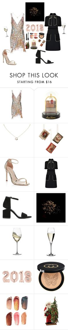 """""""!happy new year!"""" by waveoftenderness ❤ liked on Polyvore featuring Amen, Louis Vuitton, Tiffany & Co., Stuart Weitzman, Gucci, Alexander Wang, Gordon Kadonoff, Riedel, Bite and Christian Dior"""