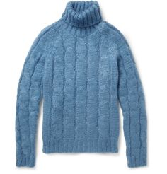 GucciCable-Knit Mohair And Silk-Blend Rollneck Sweater|MR PORTER