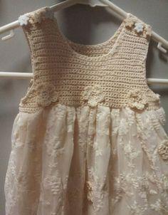 Crochet girls toddler dress. Inspiracion ~ Teresa Restegui~