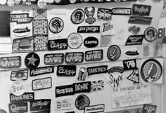 Band Patches by Charles F. Grammer, 1979 John Lenon, Band Patches, Zappa, Janis Joplin, Ramones