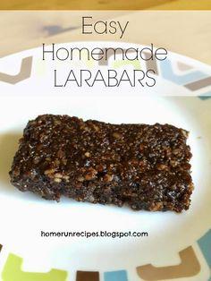 Home Run Recipes: Easy Homemade Larabars. Healthy energy!