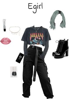 E Girl Outfits egirl check outfit shoplook in 2020 outfits for teens E Girl Outfits. Here is E Girl Outfits for you. E Girl Outfits egirl check outfit shoplook in 2020 outfits for teens. E Girl Outfits few things can he. Swag Outfits For Girls, Skater Girl Outfits, Cute Casual Outfits, Teenager Outfits, Edgy Outfits, Retro Outfits, Grunge Outfits, Rock Outfits, Egirl Fashion