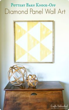 Pottery Barn Inspired Distressed Diamond Art