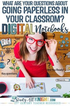 What are your key questions for going digital in your classroom this school year? Are you planning on a blended learning. Teacher Blogs, Teacher Resources, Classroom Resources, Classroom Ideas, Google Classroom, School Classroom, Middle School Writing, Thing 1, Blended Learning