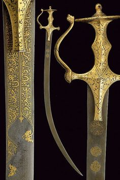 Buy online, view images and see past prices for An interesting shamshir with tulwar type mounts. Invaluable is the world's largest marketplace for art, antiques, and collectibles. Swords And Daggers, Knives And Swords, Indian Sword, Medieval Pattern, Self Defense Weapons, Arm Armor, Hunting Rifles, Fantasy Armor, Islamic Art