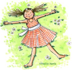 Barefoot in the grass - Phyllis Harris
