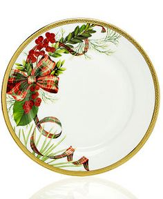 Charter Club Dinnerware, Holly Berry Round Collection - Fine China - Dining & Entertaining - Macy's