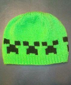 Minecraft Creeper Handmade Knit Hat