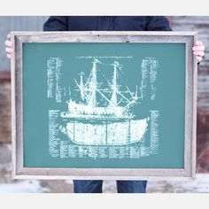 Ship Diagram Forest Green by Kyle & Courtney Harmon  (WANT!!!)