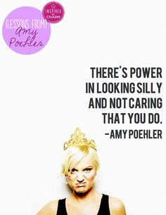 "The picture alone cracks me up! I'm loving this new series ""Lessons From Amy Poehler"" via inspired by charm"