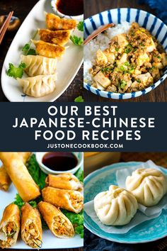 Let's cook some delicious Japanese Chinese food recipes today! In this roundup, you'll find our most popular gyoza, nikuman, tan-men, mapo dishes and more. #japanesechinese #japanesefood #chukaryori | Easy Japanese Recipes at JustOneCookbook.com