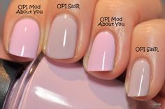 Spaz & Squee: Brand: OPI Mod about you vs. steady as a rose