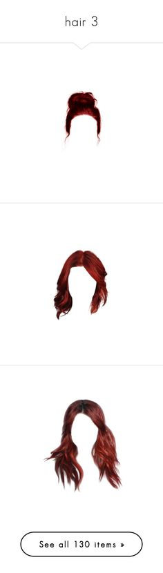 """""""hair 3"""" by kidney-function ❤ liked on Polyvore featuring hair, doll hair, dolls, hairstyles, wigs, detail, embellishment, filler, doll parts and fillers"""