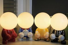 USB Rechargeable Tansform Freak Cartoon LED Table Lamp