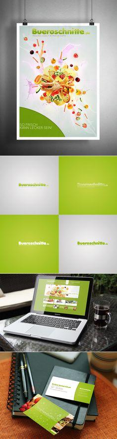 - Büroschnitte - Visual identity for a food delivery company. http://bork81.com #corporate #identity #logo #brand #keyvisual #webdesign #bork81 #sebastianbork #photoshop #illustrator #blender3d #yafaray #joomla