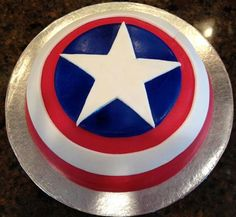 Captain America Birthday Cake Tesco