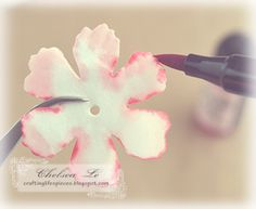 "Crafting Life's Pieces: ""Beauty"" shabby chic card - carnation flower tutorial"