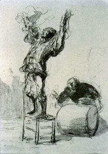 Honore Daumier gesture drawing
