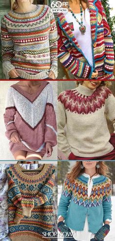 Colorful sweaters hot now! Christmas & new year gift for yourself>> Shop now> – Knitting Ideas Simply Knitting, Free Knitting, Knitting Patterns, Knitting Sweaters, Casual Sweaters, Sweaters For Women, Women's Sweaters, Chanel Couture, Knit Fashion