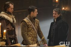 """Reign -- """"Intruders"""" -- Image Number: RE317b_0022.jpg -- Pictured (L-R): Dan Jeannotte as James and Jonathan Goad as John Knox -- Photo: Ben Mark Holzberg/The CW -- © 2016 The CW Network, LLC. All rights reserved."""