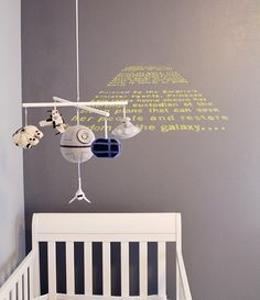 Haha, pinning this specifically for my brother - Star Wars Themed Baby Nursery