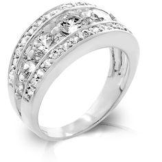 Jewelry | Seven Stone Cubic Zirconia Anniversary Style Ring $24.95