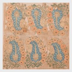 19th century silk and cotton Ottoman embroidery fragment from @sorugsandtextiles #spring