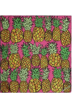 Anna Coroneo, Pineapple-print silk scarf