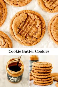 Cookie Butter Cookies are soft, chewy delicious cookies made with  Speculoous Cookie Butter! You;ll love the warm, cozy notes of cinnamon,  nutmeg, cloves & ginger in these cookies; making them perfect to  make around the holidays! #cookiebuttercookies #traderjoes  #speculooscookies #speculoos #cookiebutter #chewy #recipe #baking #easy