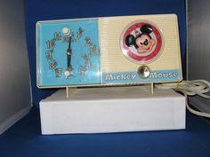 Vintage 1960'S Mickey Mouse Radio and Alarm Clock