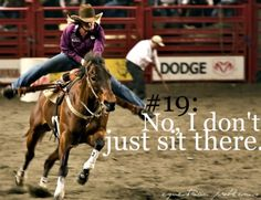 So much for having a quiet seat :-/ true i do not believe the horse needs this the rider does. i love barrel racing but believe in a quiet seat.
