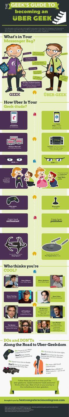 Guía para ser un ÜberGeek #infografia #infographic #humor