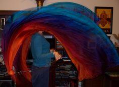 Sahariah's Silk Belly Dance Veil Killer Tornado by SilksbySahariah, $92.00