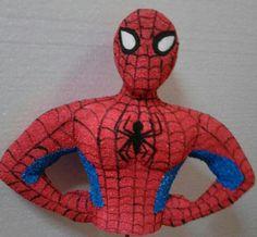Busto 3D de Spiderman, textura gamuzada
