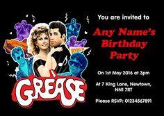 Grease Personalised Birthday Party Invitations Fingerprint Designs http://www.amazon.co.uk/dp/B00VQNAZAK/ref=cm_sw_r_pi_dp_Q9aNwb0KXGGQH