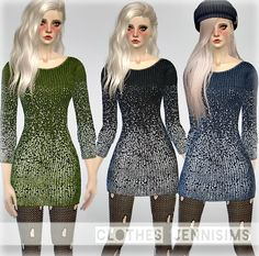 Jennisims: Downloads sims 4: Sets of clothes for the Sims 4 Feel It (Skirt,top,Dress)