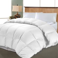 Oversized Queen White Down Comforter 1000 Thread Count Egyptian Cotton Bedding #HotelGrand