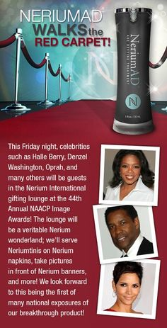Walk the Red Carpet with NeriumAD!  www.YouthSecrets.nerium.com