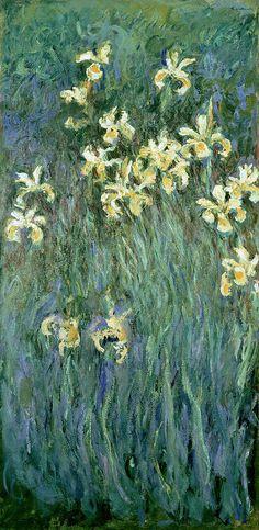 The Yellow Irises  - Claude Monet