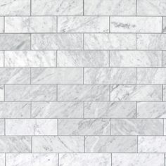 Bianco Carrara Honed Marble Tile - 3 x 9 - 100105105 Carrara Marble Bathroom, Marble Subway Tiles, Honed Marble, Decorative Tile Backsplash, Kitchen Backsplash, Backsplash Ideas, Tile Ideas, Wall Tile, Countertop
