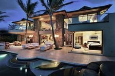 Exterior Master Bedroom Design, Pictures, Remodel, Decor and Ideas Houses Architecture, Modern Architecture, Tropical Architecture, Tropical Houses, Modern Tropical, Tropical Design, Tropical Style, Decoration Design, Master Bedroom Design