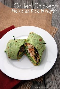 Grilled Chicken and Mexican Rice Wraps