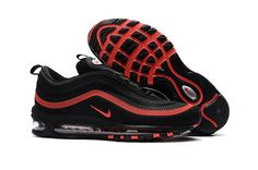 5079a1273fee9 2017 Nike Air Max 97 Rubber Patch In Black Red Wholesale