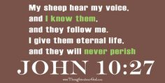 """#DailyDevotional  AN IDENTITY THAT CANNOT BE STOLEN """"...I know them, and they follow me. I give them eternal life, and they will never perish, and no one will snatch them out of my hand."""" John 10:27-29  http://www.thoughts-about-god.com/blog/2016/07/25/jg_identity/"""