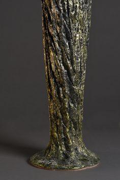 #sculpture #contemporaryceramics #art  #woodlike #treebark #naturaltexture Tree Bark, Contemporary Ceramics, Natural Texture, Sculpting, Glass Vase, Wood, Home Decor, Art, Whittling