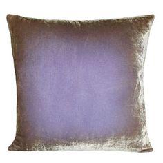 kevin obrien ombre velvet pillow - lilac 22x22